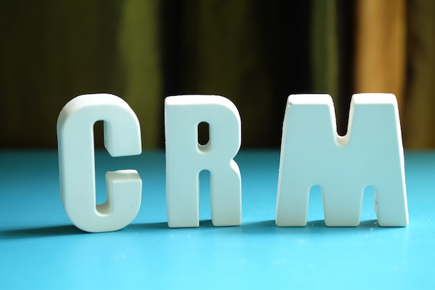 Arrange white letters as crm