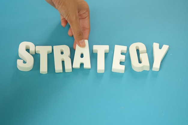 Arrange white letters strategy