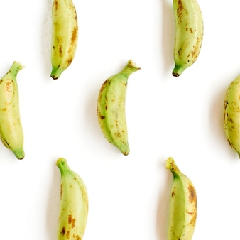 Arranged bananas pattern. creative food concept