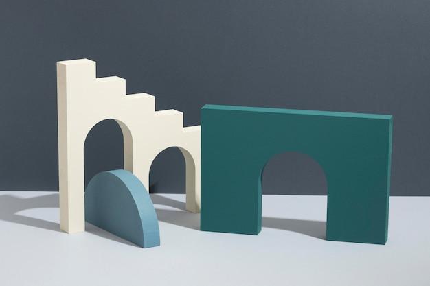 Arrangement of abstract 3d design elements