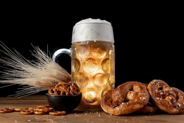 Arrangement of bavarian festival snacks