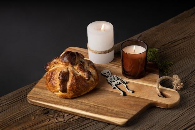 Disposizione del delizioso pane dei morti