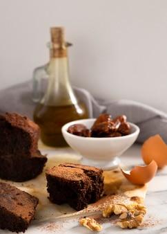 Arrangement of delicious cocoa healthy recipe