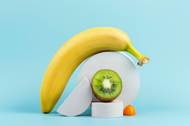 Arrangement of delicious fresh fruits