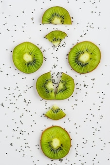 Arrangement of delicious fresh kiwis