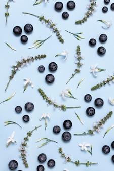 Arrangement of delicious ripe produces