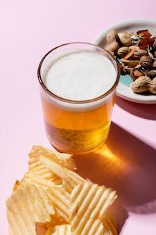 Arrangement of delicious unhealthy snacks