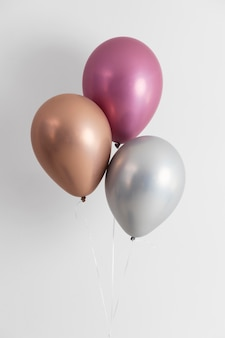 Arrangement of different festive balloons
