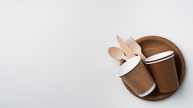 Arrangement of eco friendly tableware