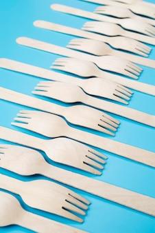 Arrangement of eco friendly utensils