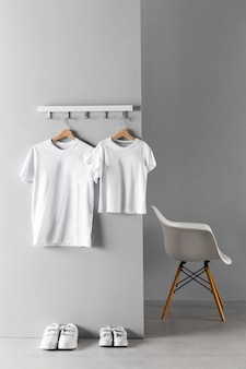 Arrangement of father and son clothing