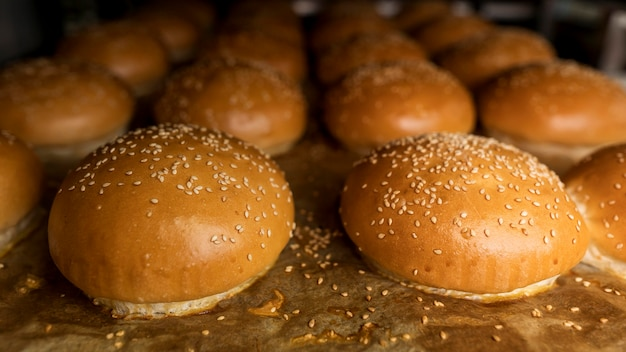 Arrangement of fresh baked breads