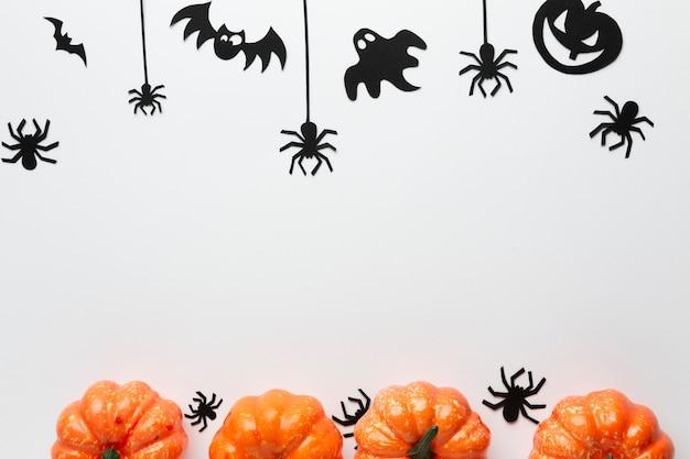 Arrangement of halloween party elements