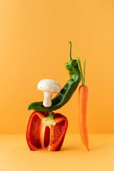 Disposizione di cibo vegetariano sano