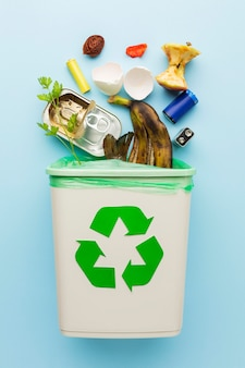 Arrangement of leftover wasted food recycle bin