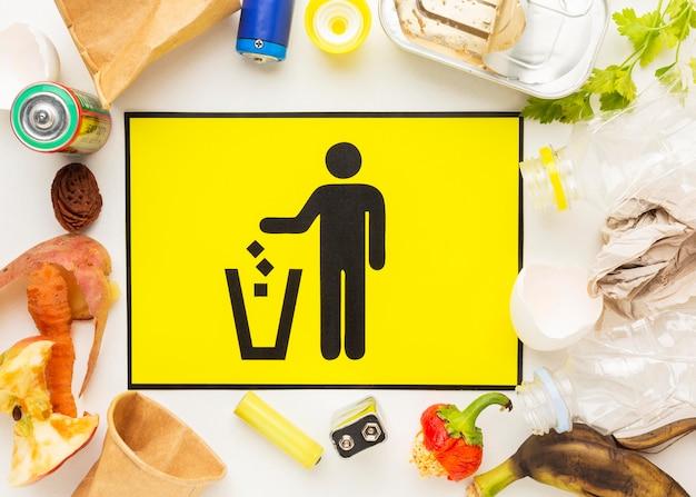 Disposizione degli avanzi di cibo sprecato