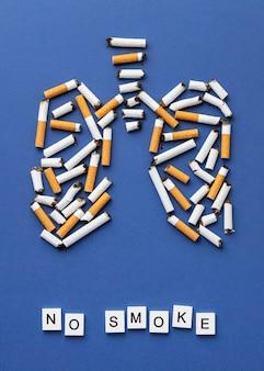 Arrangement of no tobacco day elements Free Photo