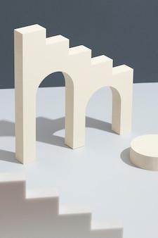Расположение абстрактных элементов дизайна 3d