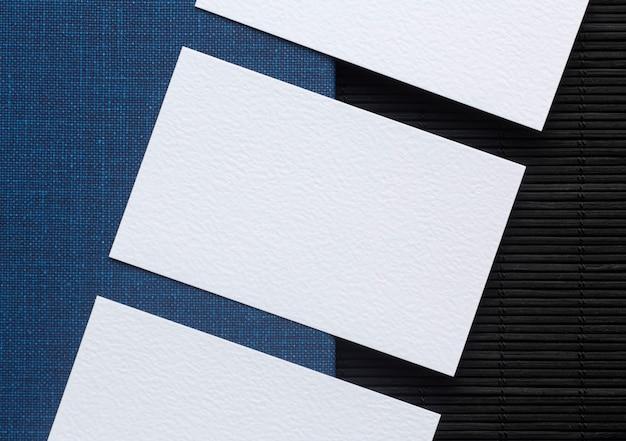 Расположение визиток вид сверху