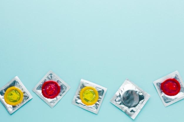 コピースペースと避妊コンセプトの配置