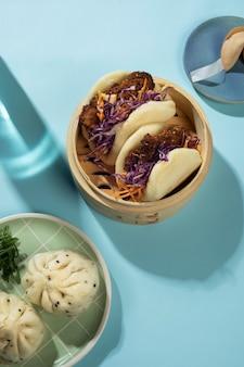 Расположение вкусной азиатской еды