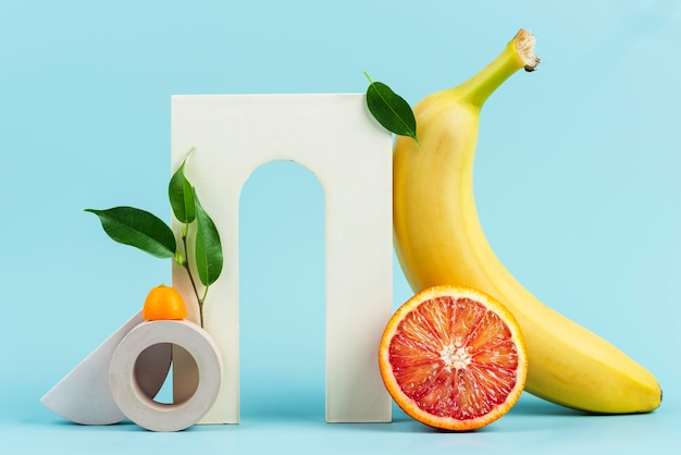 맛있는 신선한 과일의 배열