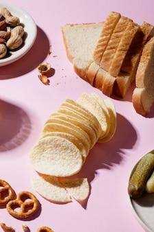 Организация вкусных нездоровых закусок
