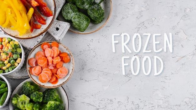 さまざまな冷凍グッズのアレンジメント