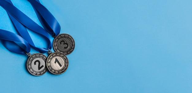 さまざまなオリンピックメダルの配置