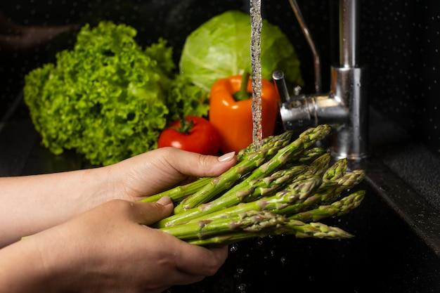 Организация мытья здоровой пищи