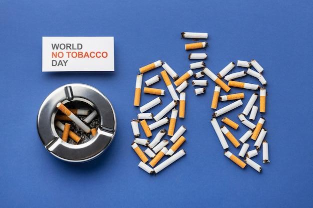 Композиция из элементов дня без табака