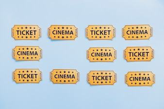 Arrangement of paper tickets