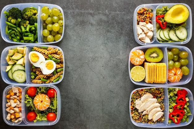 Организация вкусных порционных блюд, приготовленных с копией пространства