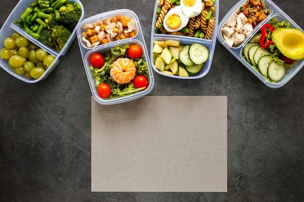 Организация вкусной порционной еды, приготовленной с пустой картой
