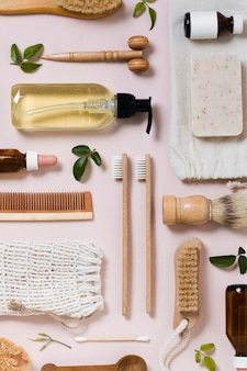 Arrangement of oil and spa accessories
