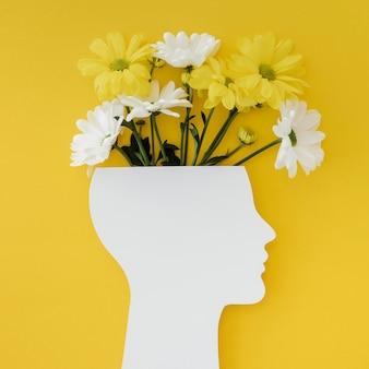 Arrangement of optimism concept with flowers