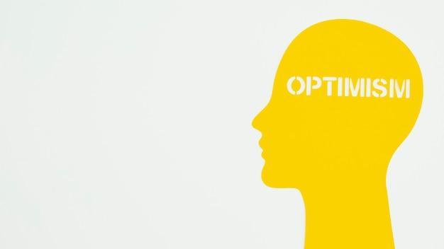 Arrangement of optimism element with copy space