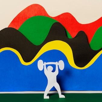 Disposizione delle forme delle olimpiadi in stile carta