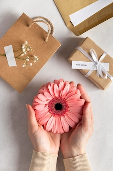 Arrangement of pretty mother's day elements