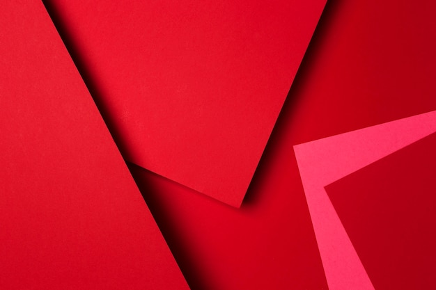 Arrangement of red paper sheets