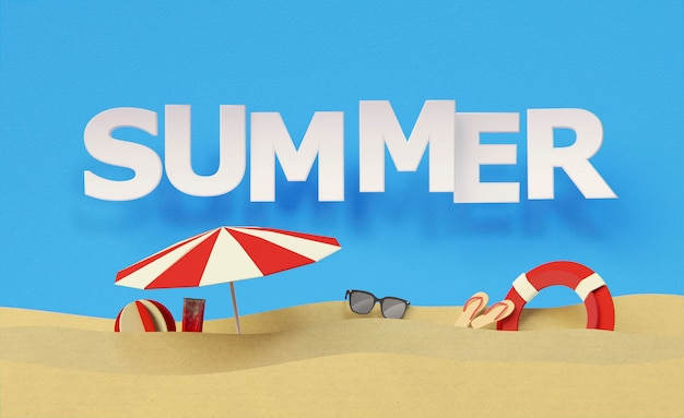 Arrangement of summer still life elements