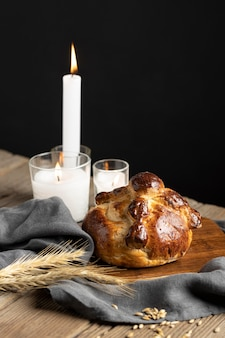 Arrangement of traditional bread of dead