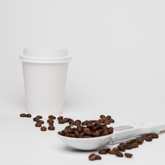 Arrangement with coffee beans