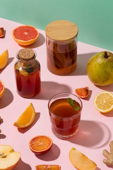 Arrangement with delicious fermented drinks