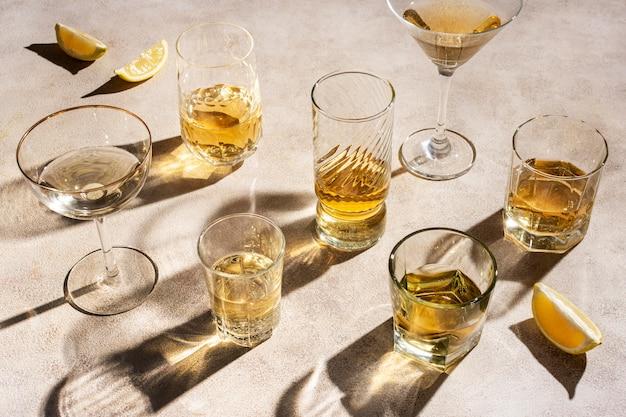 Accordo con deliziosa bevanda mezcal