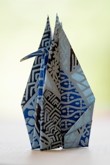 Arrangement with origami made object