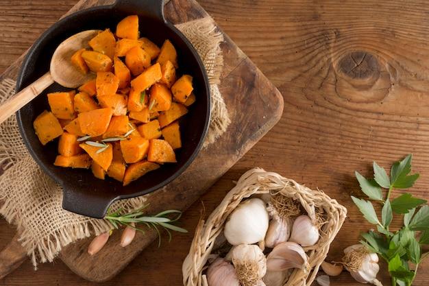 ジャガイモとニンニクのアレンジ