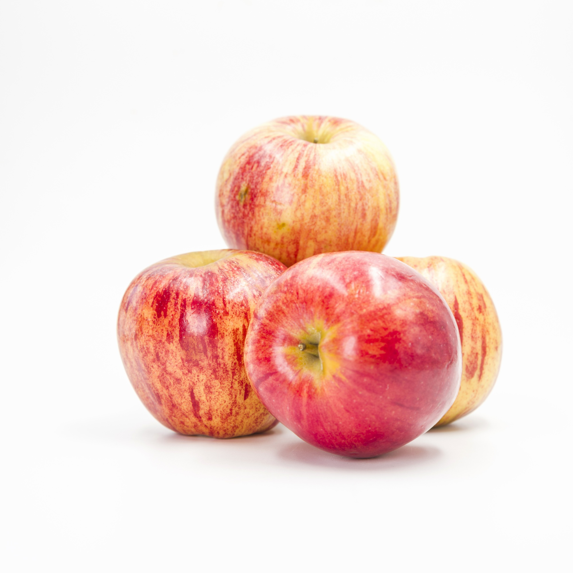 Arrangement with red apples