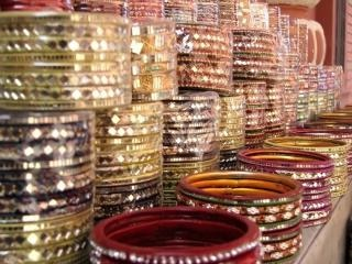 Array of indian bangles