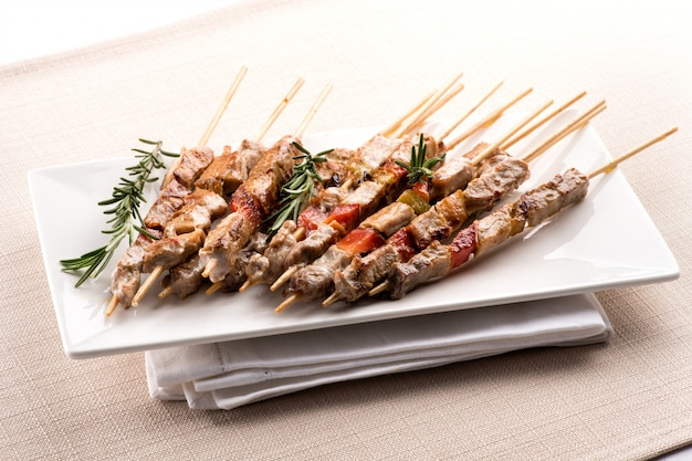 Arrosticini, or lamb skewers, from abruzzo